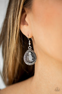 Grandmaster Shimmer - Silver Paparazzi Earring - Pink Dragon Jewels