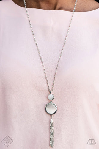 Have Some Common SENSEI - White Paparazzi Necklace - Pink Dragon Jewels