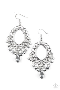 Just Say NOIR - Silver Paparazzi Earring - Pink Dragon Jewels