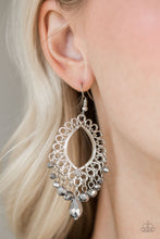 Load image into Gallery viewer, Just Say NOIR - Silver Paparazzi Earring - Pink Dragon Jewels