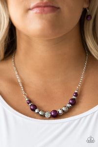 The Big-Leaguer - Purple Paparazzi Necklace - Pink Dragon Jewels