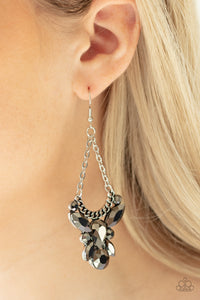 Bling Bouquets - Silver Paparazzi Earring - Pink Dragon Jewels