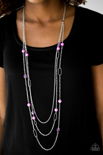 East Coast Classic - Purple Paparazzi Necklace - Pink Dragon Jewels