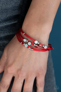 Cut The Cord - Red Paparazzi Bracelet - Pink Dragon Jewels