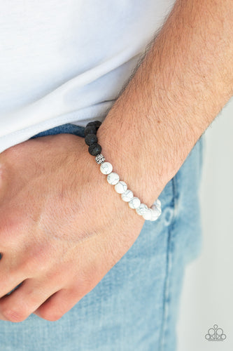 Fortune - White Paparazzi Bracelet - Pink Dragon Jewels