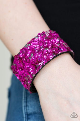 Starry Sequins - Pink Paparazzi Bracelet - Pink Dragon Jewels