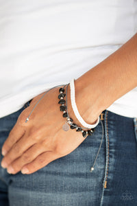 A PEACE Of Work - Black Paparazzi Bracelet - Pink Dragon Jewels