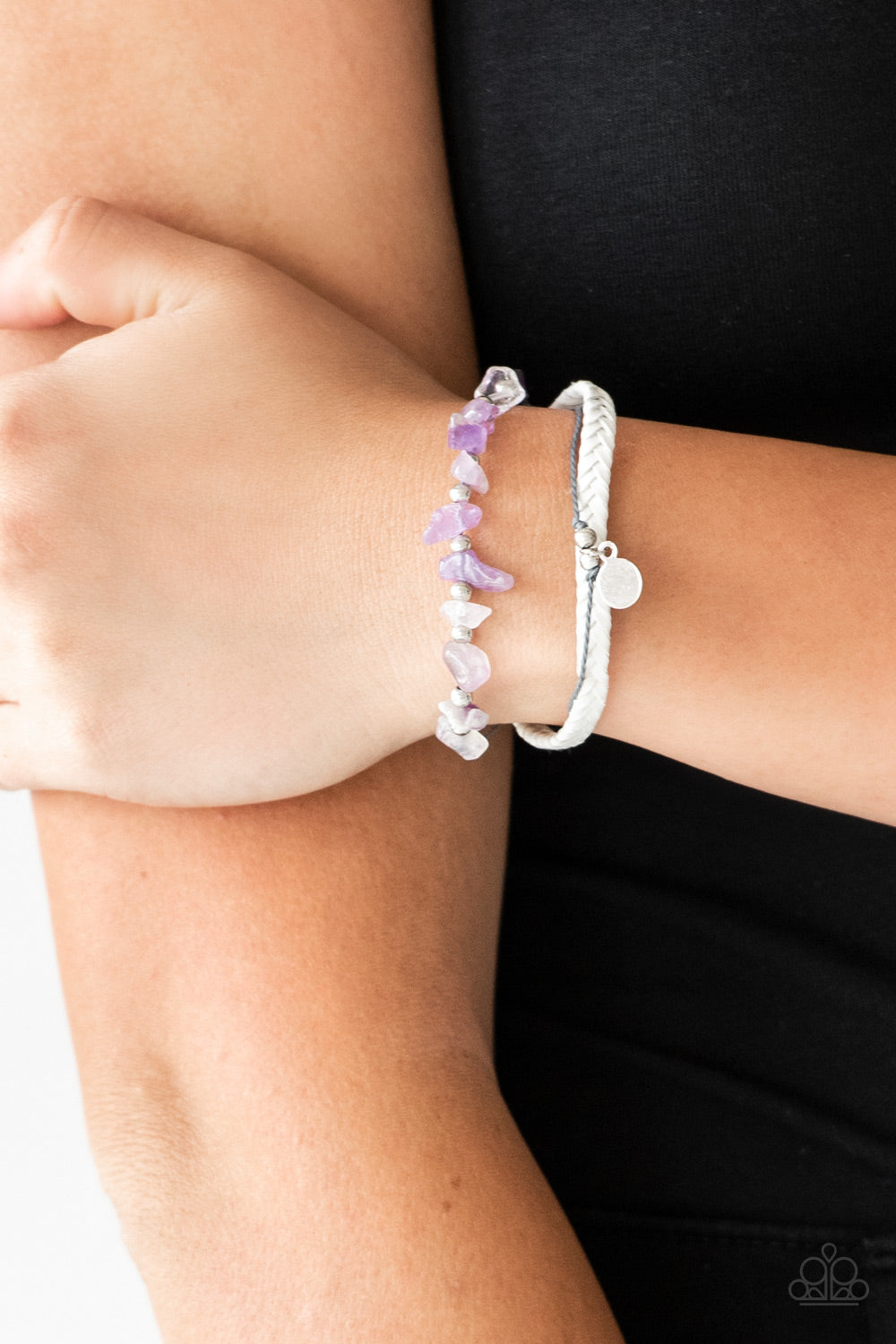 A PEACE Of Work - Purple Paparazzi Bracelet - Pink Dragon Jewels