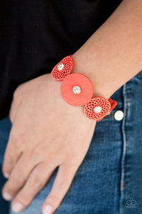 Poppin Popstar - Orange Paparazzi Bracelet - Pink Dragon Jewels