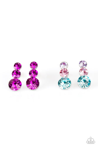 Cascading Rhinestone Earrings - Paparazzi Starlet Shimmer - Pink Dragon Jewels