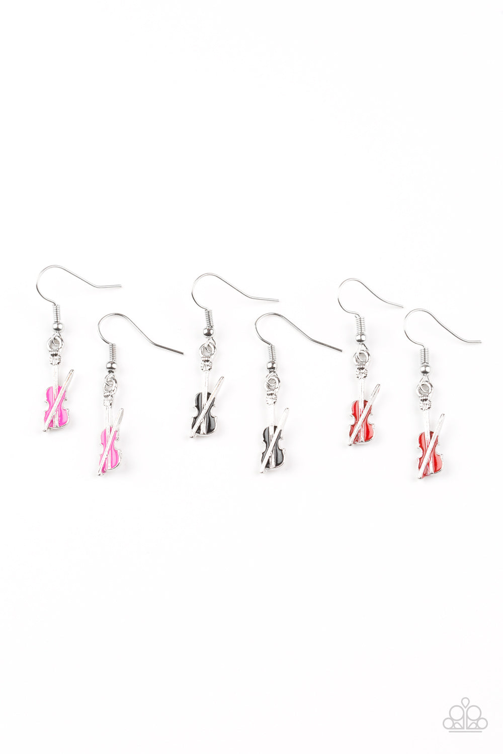 Violin Earrings - Paparazzi Starlet Shimmer - Pink Dragon Jewels