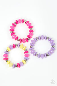 Colorful Bead Bracelets - Paparazzi Starlet Shimmer - Pink Dragon Jewels