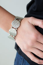 Load image into Gallery viewer, GLISTEN and Learn - Silver Paparazzi Bracelet - Pink Dragon Jewels