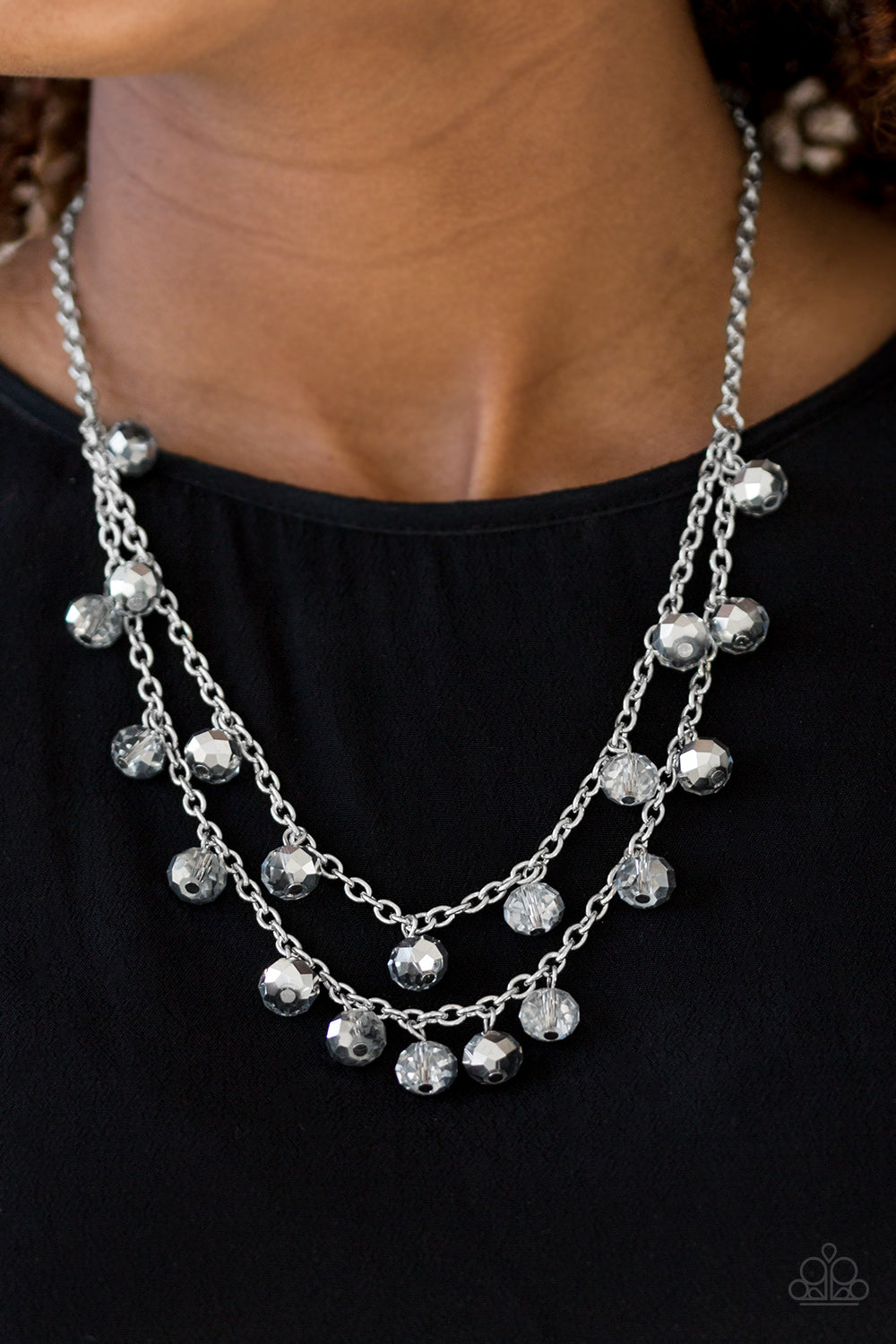 Super Supernova - Silver Paparazzi Necklace - Pink Dragon Jewels