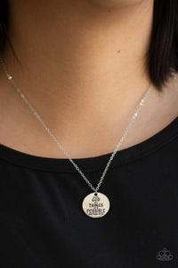 All Things Are Possible - Silver Paparazzi Necklace - Pink Dragon Jewels