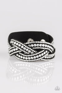 Bring On The Bling - Black Paparazzi Bracelet - Pink Dragon Jewels