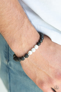 Karma - White Paparazzi Bracelet - Pink Dragon Jewels
