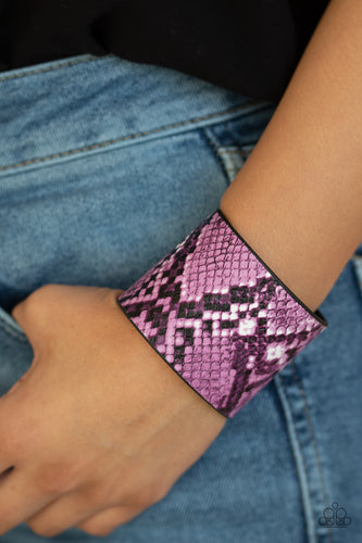 The Rest Is HISS-tory - Purple Paparazzi Bracelet - Pink Dragon Jewels