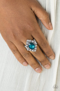 Power Behind The Throne - Blue Paparazzi Ring - Pink Dragon Jewels