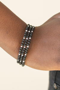 Stone Paradise - Black Paparazzi Bracelet - Pink Dragon Jewels