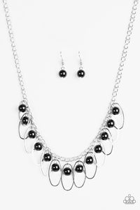 Party Princess - Black Paparazzi Necklace - Pink Dragon Jewels