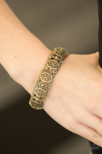 Naturally Nepal - Brass Paparazzi Bracelet - Pink Dragon Jewels
