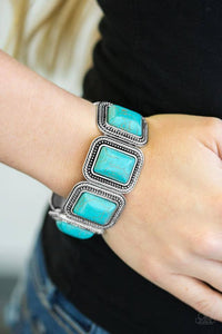 Cowgirl Chic - Blue Paparazzi Bracelet - Pink Dragon Jewels
