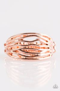 Rip Current - Copper Paparazzi Ring - Pink Dragon Jewels