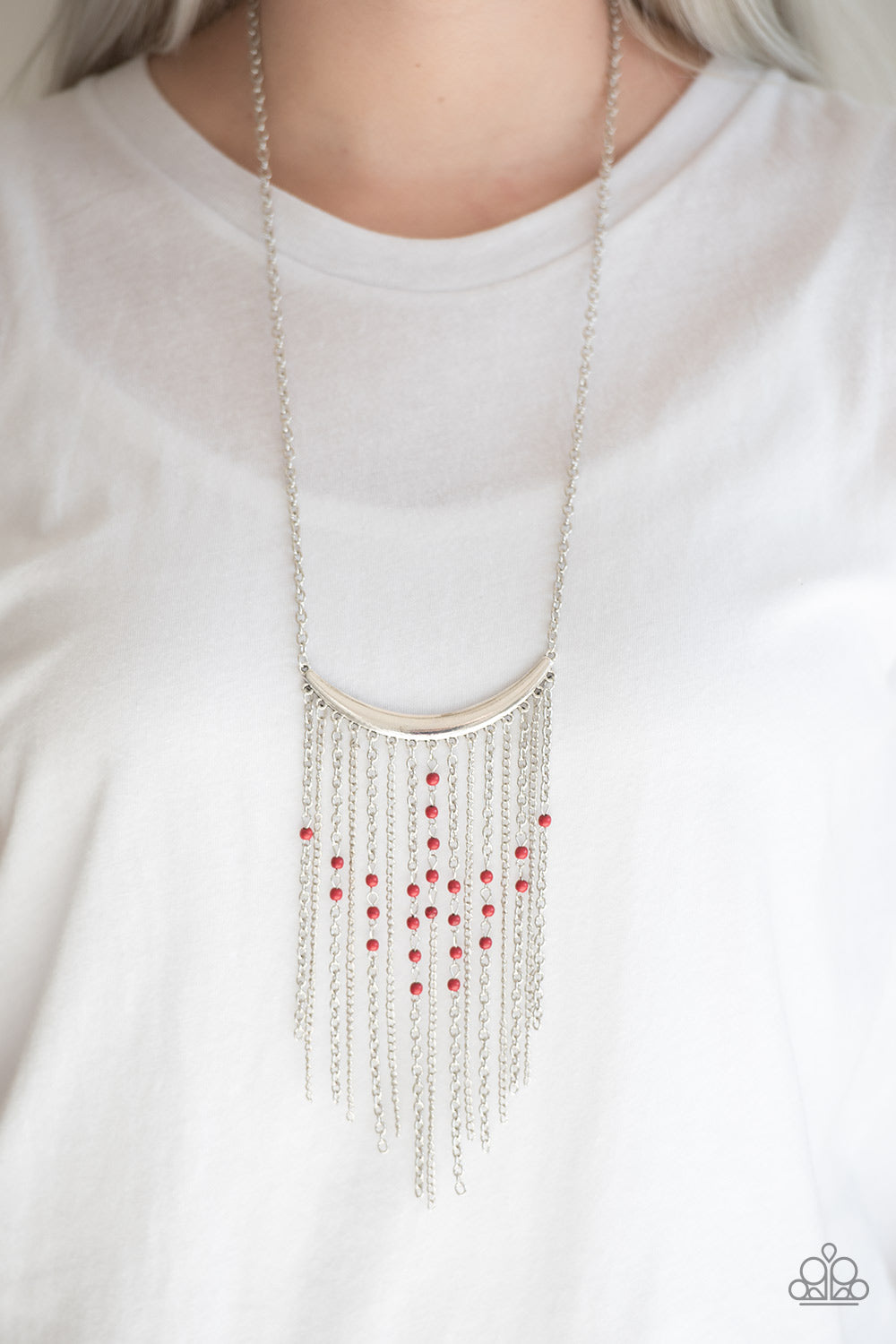 Runaway Rumba - Red Paparazzi Necklace - Pink Dragon Jewels