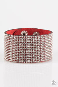 Roll With The Punches - Red Paparazzi Bracelet - Pink Dragon Jewels