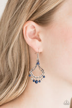 Load image into Gallery viewer, Dazzling Date Night - Blue Paparazzi Earring - Pink Dragon Jewels