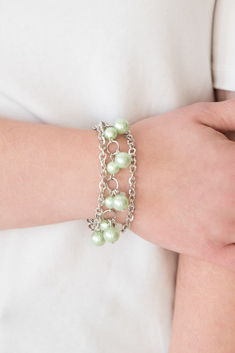 Manhattan Musical - Green Paparazzi Bracelet - Pink Dragon Jewels