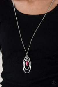 I Outrank You - Red Paparazzi Necklace - Pink Dragon Jewels