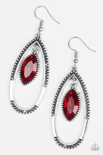 Load image into Gallery viewer, Top Rank - Red Paparazzi Earring - Pink Dragon Jewels