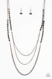 Shimmer Showdown - Black Paparazzi Necklace - Pink Dragon Jewels