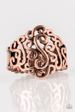Load image into Gallery viewer, Dizzy Demure - Copper Paparazzi Ring - Pink Dragon Jewels