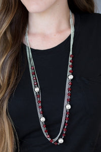 High Standards - Red Paparazzi Necklace - Pink Dragon Jewels