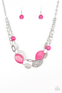 Second Nature - Pink Paparazzi Necklace - Pink Dragon Jewels