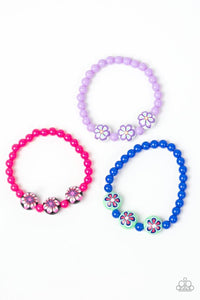 Colorful Flower Beads - Paparazzi Starlet Shimmer - Pink Dragon Jewels