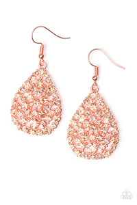 Sparkle Brighter - Copper Paparazzi Earring - Pink Dragon Jewels