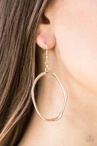 Eco Chic - Gold Paparazzi Earring - Pink Dragon Jewels