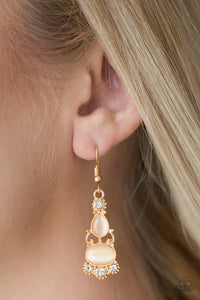 Push Your LUXE - Gold Paparazzi Earring - Pink Dragon Jewels