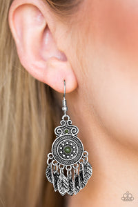 Lower East WILDSIDE - Green Paparazzi Earring - Pink Dragon Jewels
