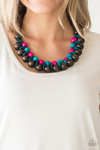 Caribbean Cover Girl - Multi Paparazzi Necklace - Pink Dragon Jewels