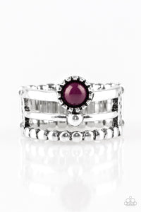 Summer Retreat - Purple Paparazzi Ring - Pink Dragon Jewels