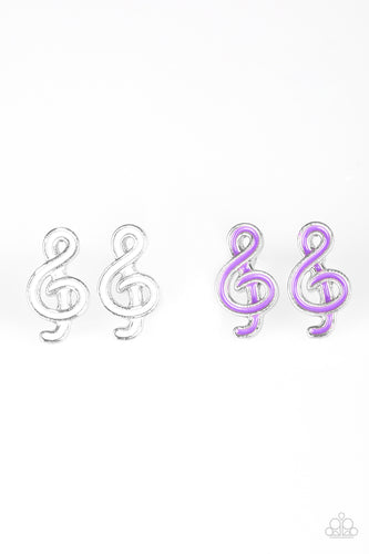 Treble Clef Posts - Paparazzi Starlet Shimmer - Pink Dragon Jewels