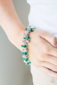 Just For The FUND Of It! - Green Paparazzi Bracelet - Pink Dragon Jewels