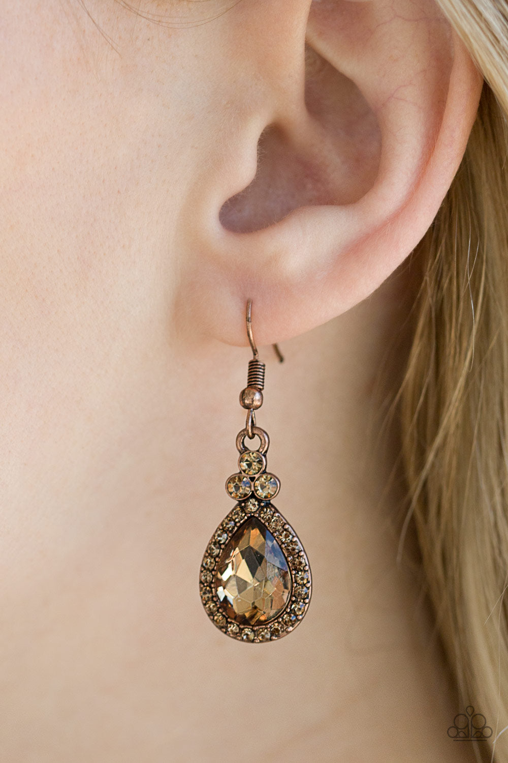 Self-Made Millionaire - Copper Paparazzi Earring - Pink Dragon Jewels