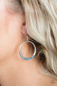 Morning Mimosas - Blue Paparazzi Earring - Pink Dragon Jewels