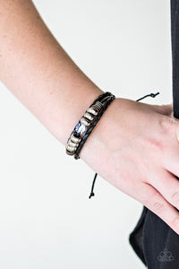 Fearless Forester - Black Paparazzi Bracelet - Pink Dragon Jewels